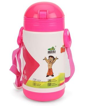 Chhota Bheem New Insulated Water Bottle - Pink & White