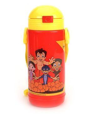 Chhota Bheem Big Insualted Water Bottle Red & Yellow - 400 ml