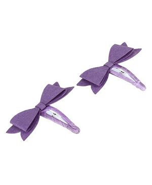 D'chica Bow Hair Clip - Purple