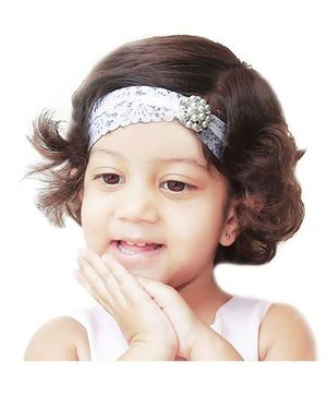 D'chica  Lace Headband For Baby Girls - White