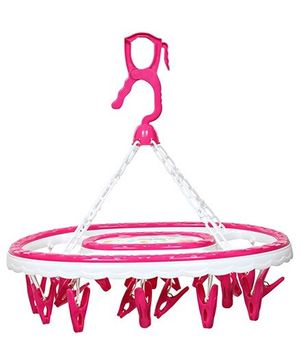 Circular Clothes Hanger With Clips