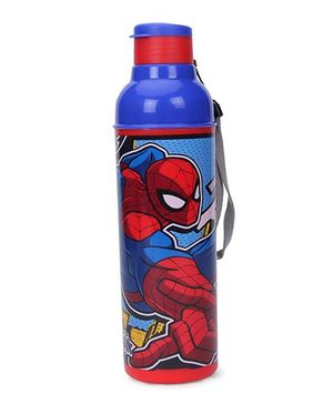 cello Homeware Sonic Sipper Bottle Spider Man Print Blue Red - 600 ml