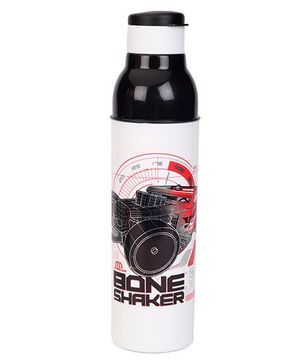 Cello Homeware Sonic Sipper Bottle Bone Shaker Print White Black - 900 ml
