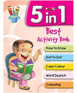 5 in 1 Best Activity Books - English