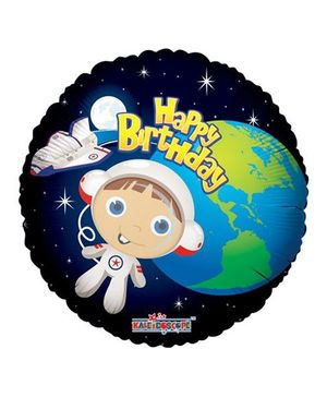 Party In A Box Kaleidoscope Birthday Astronaut Boy Balloon - Multicolor