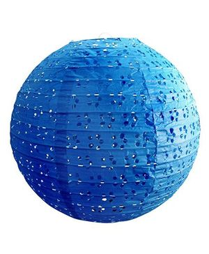 Funcart Eyelet Lace Look Paper Lantern Blue - 12 Inches
