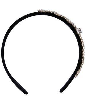 Cutecumber Party Wear Hair Band Heart Design - Black
