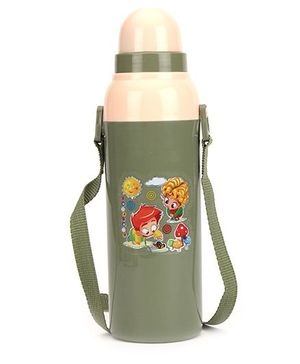 Cello Homeware Cool Wiz Insulated Water Bottle Goodluck Print - 600 ml