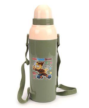 Cello Homeware (Green) Coll Wiz Insulated Water Bottle Gopichand Jasoos Print  600 Ml