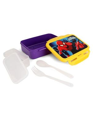 Cello Homeware Enigma Medium Lunch Box Spider-Man - Purple & Yellow