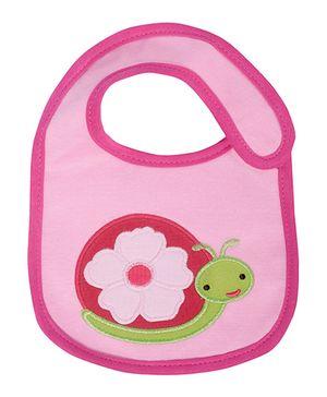 Lilltle Hip Boutique Snail Bib - Pink