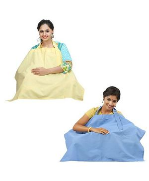 Lulamom Nursing Cover Yellow Blue - Pack of 2