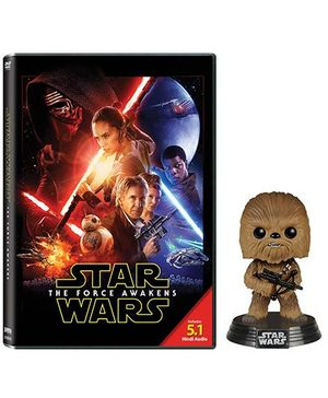 Disney Star Wars The Force Awakens With Chewbacca Bobble Head Movie DVD - English