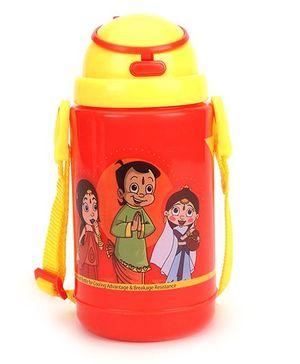 Chhota Bheem New Insulated Water Bottle Red & Yellow - 300 ml