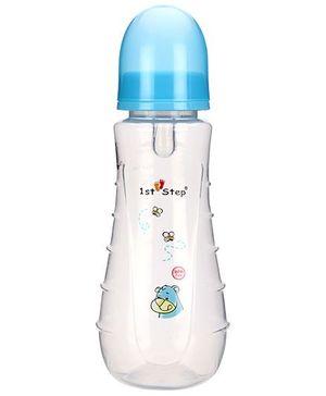 1st Step Bear Print Feeding Bottle Blue - 250 ml