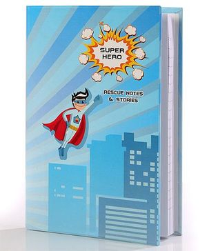 Baby Oodles Notebook Super Hero Theme Blue  - 80 Pages