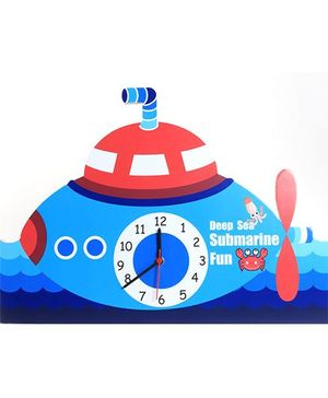 Baby Oodles Submarine Wall Clock - Blue And Red