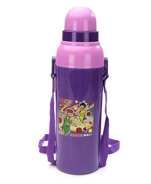 Cello Homeware Cool Wiz Insulated Water Bottle Basket Ball Print Purple - 600 ml Approx