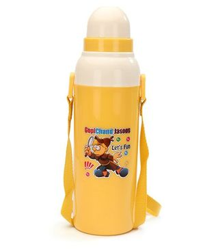 Cello Homeware Cool Wiz Insulated Water Bottle Gopichand Jasoos Print Yellow - 600 ml Approx
