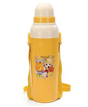 Cello Homeware Cool Wiz Insulated Water Bottle Lets Play Print Yellow - 600 ml Approx
