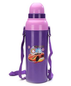 Cello Homeware Cool Wiz Insulated Water Bottle Racer Car Print Purple - 600 ml Approx
