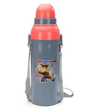 Cello Homeware Cool Wiz Insulated Water Bottle Gopichand Jasoos Print Grey - 600 ml Approx