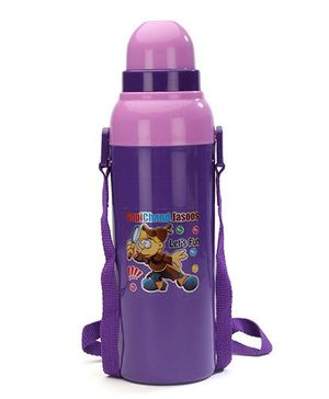 Cello Homeware Cool Wiz Insulated Water Bottle Gopichand Jasoos Print Purple - 600 ml Approx