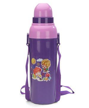 Cello Homeware Cool Wiz Insulated Water Bottle Sun & Mushroom Print Purple - 600 ml Approx