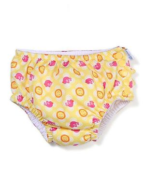 I Play Bird Print Swim Diaper - Yellow