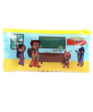 Chhota Bheem Double Side Pouch - Yellow