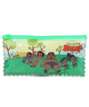 Chhota Bheem Double Sided Pouch With Chain - Green