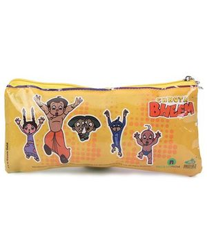 Chhota Bheem Printed Pouch - Yellow