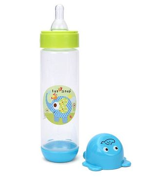 1st Step Feeding Bottle - Blue and Green
