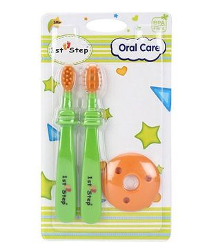 1st Step Oral Care Green Orange - Pack of 2