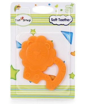 1st Step Soft Lion Shaped Teether - Orange