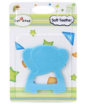 1st Step Soft Elephant Shaped Teether - Blue