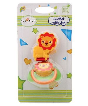 1st Step Pacifier With Link - Orange