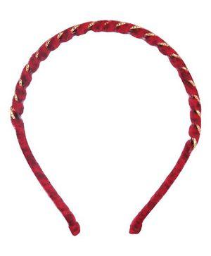 Cutecumber Party Wear Hair Band - Red