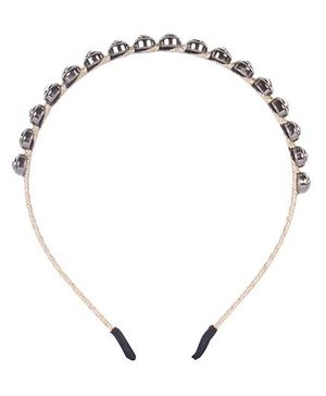 Cutecumber Party Wear Hair Band Stone Design - Gloden
