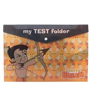Chhota Bheem My Test Folder - Orange