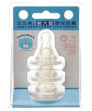 Abby Bear AB 13182 Double Vent Teat Medium - Set Of 3