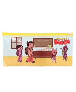 Chhota Bheem Printed Pencil Pouch - Yellow