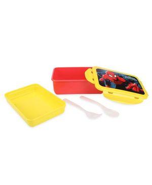 Cello Homeware Lunch Box Spider Man Print - Red Yellow