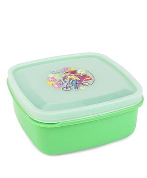 Cello Homeware Lunch Box Bicycle Print - Green