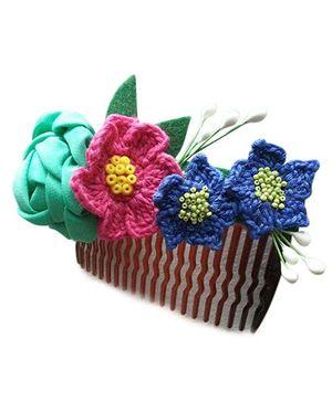 Soulfulsaai Floral Hair Comb - Multicolour