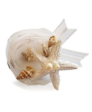 Soulfulsaai Starfish Flower Alligator Clip - Off White