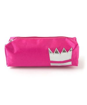 Aayera'S Nest Crown Print Nylon Pouch - Pink