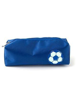 Aayera'S Nest Football Print Nylon Pouch - Blue