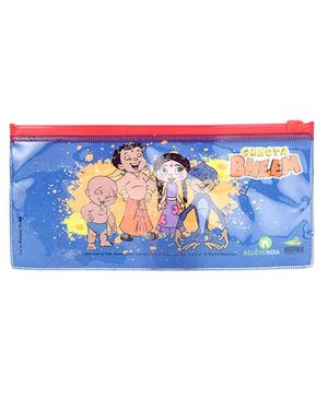 Chhota Bheem And Friends Single Side Printed Big Pouch - Blue
