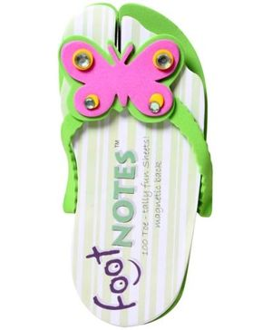 Footnotes Magnetic Notepad - Butterfly